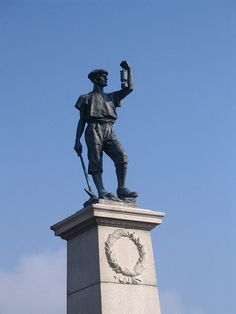 The miner at Woodhorn, Northumberland