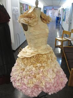 Non Textile Garment: Coffee Filter Dress by Sylvia Lund