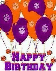 Clemson Memes, Clemson Paw, Clemson Football, Clemson Tigers, Birthday Greeting Cards, Birthday Greetings, Birthday Wishes, Happy Birthday Pictures, Birthday Images
