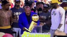 JIM BROWN PASSES THE TORCH TO LEBRON JAMES FOR CAVS WINNING TITLE FOR CL...