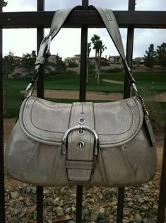 fcc0bf79538 COACH BEAUTIFUL RARE SIZE COW LEATHER METALLIC SOHO SHOULDER BAG SILVER  HARDWARE  fashion  clothing  shoes  accessories  womensbagshandbags (ebay  link)