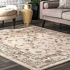 Shop for Copper Grove Perchtoldsdorf Persian Floral Border Area Rug. Get free delivery On EVERYTHING* Overstock - Your Online Home Decor Store! Get in rewards with Club O! Light Blue Area Rug, Blue Area Rugs, Border Rugs, Cream Area Rug, Construction, Rug Sale, Carpet Stains, Modern Bohemian, Online Home Decor Stores