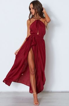 Love Spell Maxi Dress Wine
