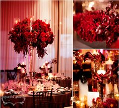 Julie & Bill's Wedding, Terranea Resort | Details Details - Wedding and Event Planning candelabra centerpieces, deep burgundy flowers, wine-colored calla lilies, pewter vases, dahlias, tall glass candle holders