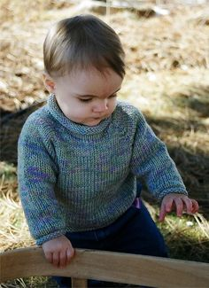 Knitting Pure and Simple - 214 - Baby Pullover (Top Down, 6 - 24 months)