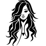 GIRL-WITH-CURLY-HAIR-VECTOR-IMAGE.eps vec237