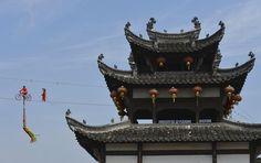 Acrobatas en China