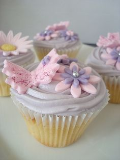 Butterfly Cupcakes More Cupcakes, Themed Cupcakes, Cupcake Ideas, Cupcake Cakes, Birthday Cakes, Birthday Ideas, Butterfly Birthday Party, Butterfly Cupcakes, Daddy Daughter