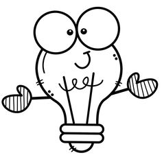 Classroom Design, Classroom Themes, Free Coloring Pages, Coloring Sheets, School Clipart, Lightbulb, Cartoon Pics, Drawing For Kids, Decor Crafts