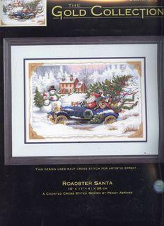 Cross Stitch - Santa driving car 1 of 8