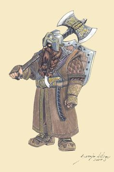 character sketch dwarf male fighter axe wield beard Beldrin by Artigas on whtbg Fantasy Races, Fantasy Armor, High Fantasy, Medieval Fantasy, Dnd Characters, Fantasy Characters, Dungeons And Dragons, Character Concept, Character Art