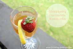 Strawberry Lemonade Kombucha