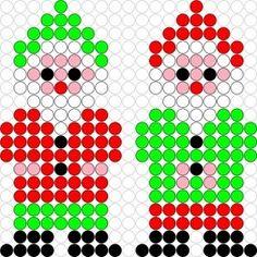 DIY Hama Beads Two Little Gnomes Pattern * Kralenplank/ Hama Beads patroon: Twee Kleine Kaboutertjes!