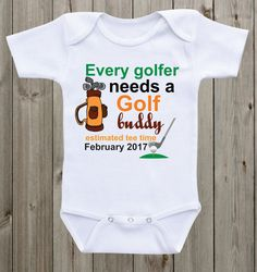 Im Going Golfing with My Cousin Pack My Stuff Baby Romper