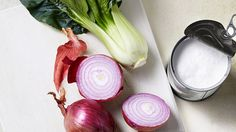 A fabulous, simple-enough-for-a-Wednesday dish using three staples: Bok choy, coconut milk and onion.