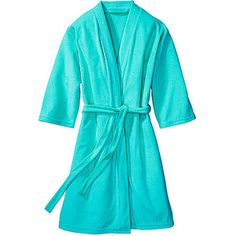 Women's 3/4-Sleeve Lightweight Terry Robe- Purple