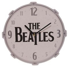 Officially licensed The Beatles drum clock designed by Puckator Ltd #TheBeatles #clock #licensed