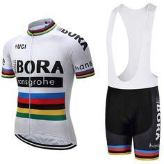 acquistare 2018 Bora squadra di Ciclismo Abbigliamento Bici jersey Quick  Dry Mens vestiti della bicicletta maniche corte Maglie pro Cycling gel bike  shorts ... 55365e117