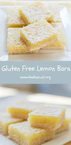 Lemon Bars - Gluten free with the best shortbread base ever!  visit teabiscuit.org for more gluten free recipes