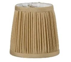Gold Shantung Silk Shirr Pleated Mini Shade | Antique Lamp Supply
