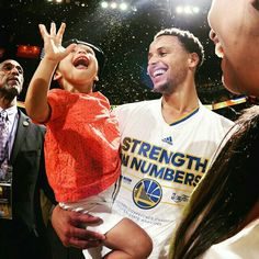 Riley Curry is just here for the celebration...
