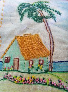 Flower Show Quilts: Stunning Appliqu on a Patchwork Canvas - Embroidery Design Guide Simple Embroidery, Folk Embroidery, Learn Embroidery, Christmas Embroidery, Hand Embroidery Designs, Beaded Embroidery, Cross Stitch Embroidery, Embroidery Patterns, Sewing Crafts
