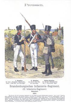 Vol 17 - Pl 01 - Preußen. Brandenburgisches Infanterie-Regiment. 1813.