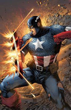 Captain America by NesTHORcolors on DeviantArt Marvel Comics, Marvel Fan, Marvel Heroes, Captain America Art, Captain America Wallpaper, Comic Book Heroes, Comic Books Art, Capitan America Comic, Captain American