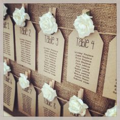 Rustic Table Plan Tags from www.thevowweddingboutique.com