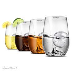 Final Touch® | Grand Rock Highball Glass & Ice Mould Set http://www.finaltouchwine.com/GS3014.html