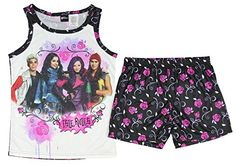 Disney Descendants Girls 2 piece pajama set Isle Rule Shorts  Tank Top 78 multicolor -- Details can be found by clicking on the image.