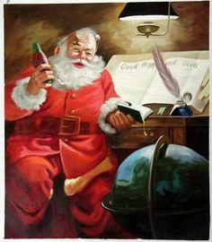 Vintage Coke Santa