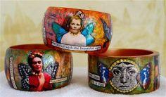 collage art bracelet