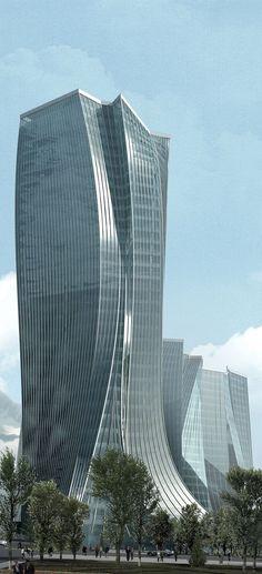Dostyk Office Complex, Almaty, Kazakhstan by E/Ye Design :: Winning Competition Entry: