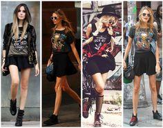 Formas de tener un look diferente todos los días con tus camisetas de rock  favoritas 6aedabd908c0