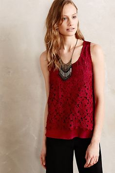 Laced Ruby Tank #anthropologie $98.00