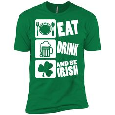 7f983b4ab2 Irish Eat Drink Be Irish St Patrick Day Clothing St Patrick's Day Shirts  Hoodies For Men And Women