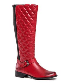 Take a look at this Red Waffelino Boot by French Blu on #zulily today!