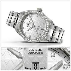 Alpina Watches Comtesse Ladies watch with diamonds ref. Ladies Jewelry, Women Jewelry, Alpina Watches, Elegant Woman, Bracelet Watch, Diamonds, Lady, Accessories, Watch