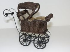 Miniature Wicker Sleeping Coach for Dollhouses 1 by Wickerville, $195.00