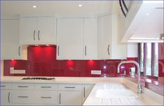 Kitchen Ideas Coloured Glass Splashbacks