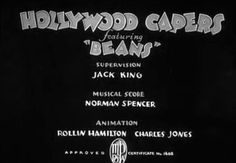 3 of 183. Credits for Jack King, Norman Spencer, Rollin Hamilton, Chuck Jones  | Hollywood Capers (1935)
