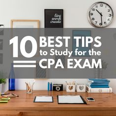 n working with many CPA Exam candidates over the years, there are things we know you struggle with daily. So we compiled a list of the top 10 things you can be doing to make your studying routine more productive.