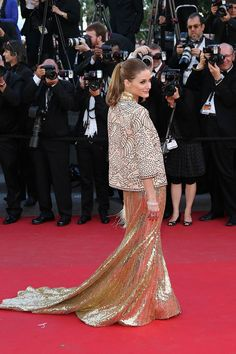 Olivia Palermo de Roberto Cavalli - Festival de Cannes 2013