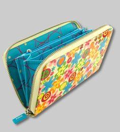PYLONES - Large wallet VOYAGE fiori