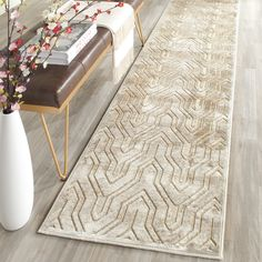 Paradise Collection PAR352-3340 Color: Soft Anthracite / Cream - #safavieh #safaviehrugs #safaviehrunners #rugrunners #rugs #hallwayrugs #entrywayrugs #staircaserugs #staircasecarpets #entrywaycarpts #bedroomrugs #livingroomrugs #diningroomrugs #kitchenrugs #hallwaydecor #entrywaydecor #shoprugs #runnercarpets #bluerunnerrug #tauperunnerrug