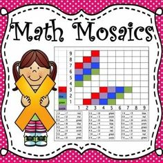 Math Mosaics is a fun bundle of 13 math activities that will give students practice in multiplication facts and math grids using ordered pairs. Students solve a multiplication problem and then using the factors of the problem, color the assigned square on the grid to create a mosaic.