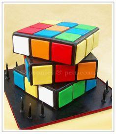 rubik s cube cake pinterest cube single layer cakes and cake