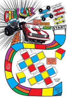 A Free Color-Based Board Game — Howtoons