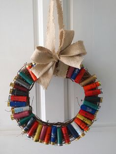 Shotgun shell wreath....I guess you hang it during hunting season...???